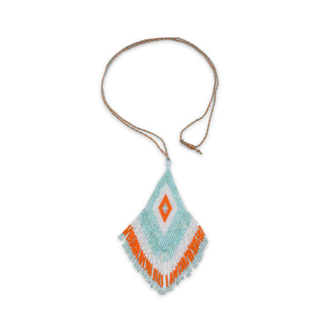Amadoria Aqua, White & Orange Java Necklace at LVBT