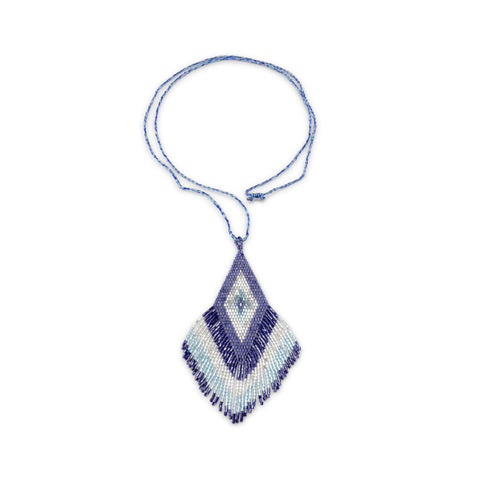 Amadoria Blue, Silver & Light Metallic Blue Java Necklace at LVBT