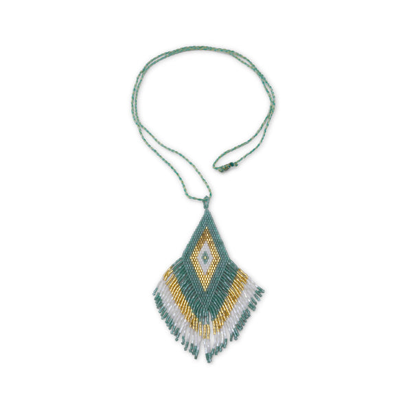 Amadoria Green, Gold & White Java Necklace at LVBT