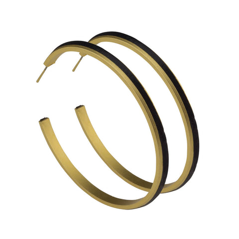 Large Leather Hoop Earrings