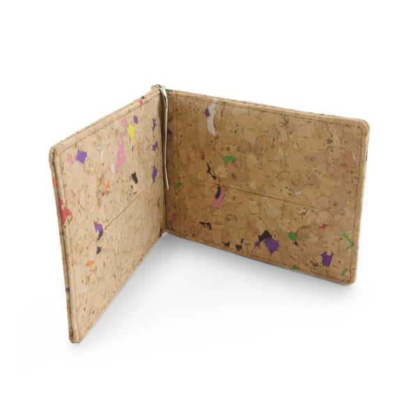 Multi-coloured Cork Money Clip