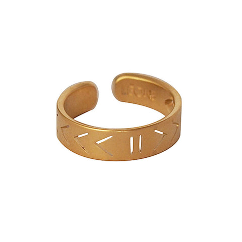 Leone Gold Play Pause Ring at LVBT