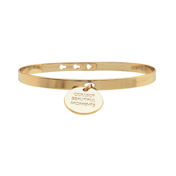 MYA BAY Gold ''Collect beautiful moments'' Charm Bracelet at LVBT