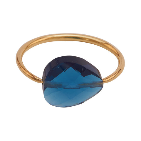 Miss Lesley Rene Gold and Blue Stone Ring at LVBT