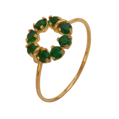 Callie Gold and Emerald Green Ring at LVBT