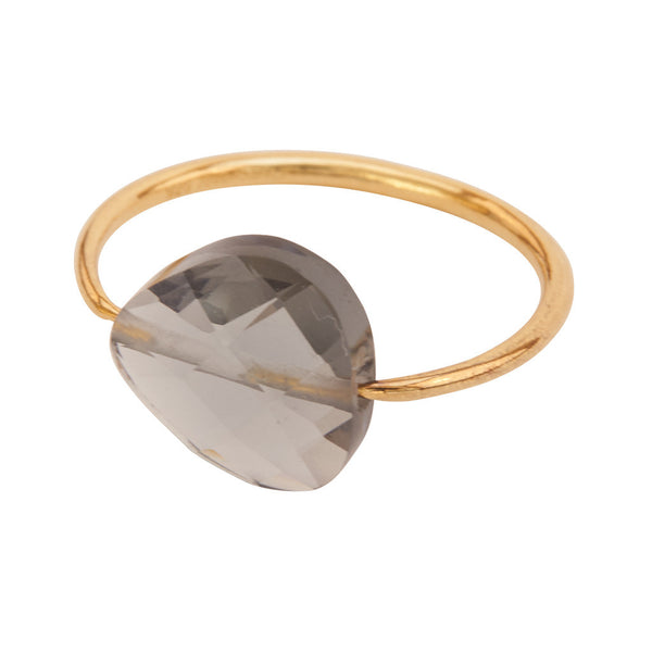 Miss Lesley Rene Gold and Grey Stone Ring at LVBT