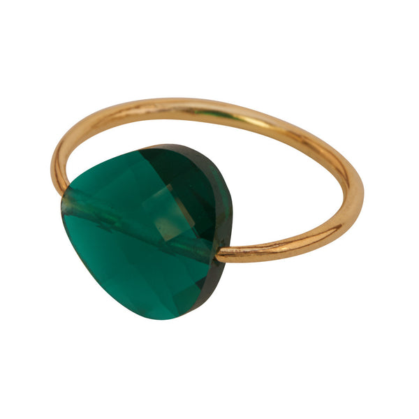 Miss Lesley Rene Gold and Green Stone Ring at LVBT