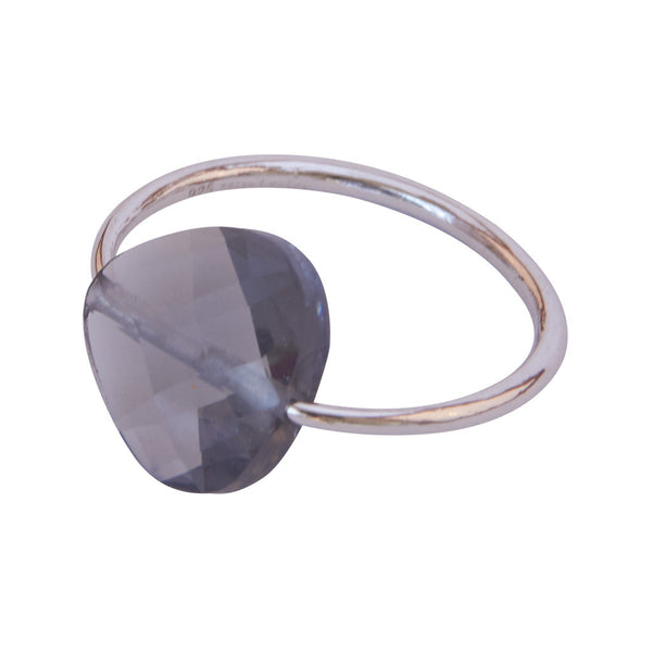 Miss Lesley Rene Silver and Grey Stone Ring at LVBT
