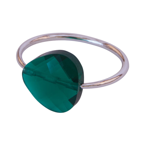 Miss Lesley Rene Silver and Green Stone Ring at LVBT