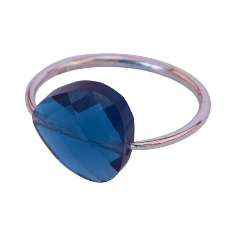 Miss Lesley Rene Silver and Blue Stone Ring at LVBT