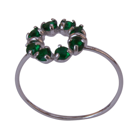 Miss Lesley Callie Silver and Emerald Green Ring at LVBT