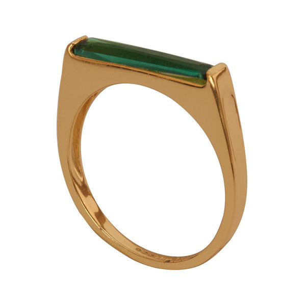 Miss Lesley Gold and Emerald Green Ring at LVBT