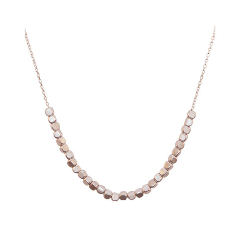 Amanda Silver Necklace Close at LVBT