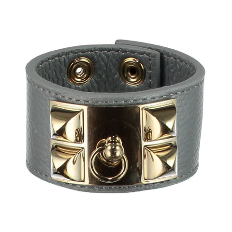 Frida Grey Leather Cuff