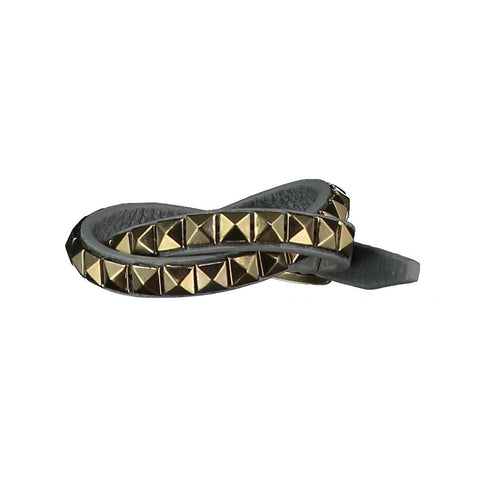 Vicki Grey Leather Bracelet