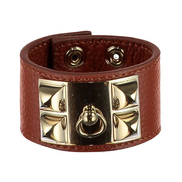 Frida Brown Leather Cuff
