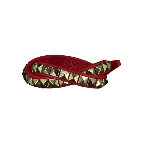 Vicki Red Leather Bracelet
