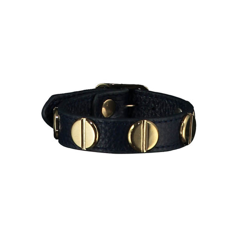 Michelle Navy Blue Leather Bracelet