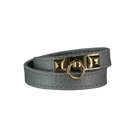 Kate Grey Leather Bracelet