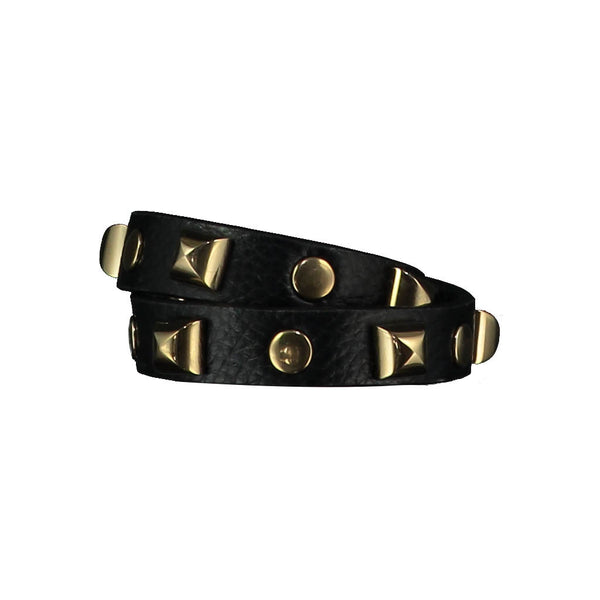 Tanya Black Leather Bracelet