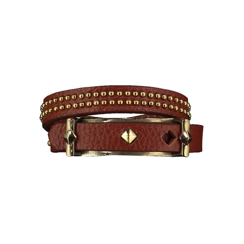 Ashlea Brown Leather Bracelet at LVBT