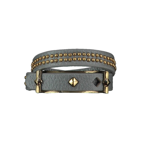 Ashlea Grey Leather Bracelet at LVBT