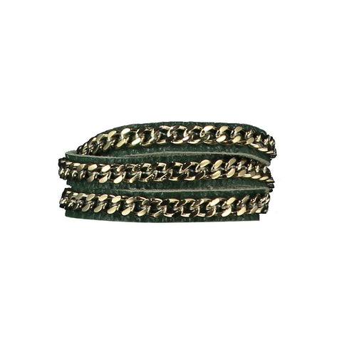 Mel Dark Green Leather Bracelet