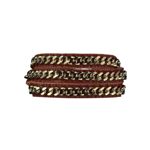 Mel Brown Leather Bracelet