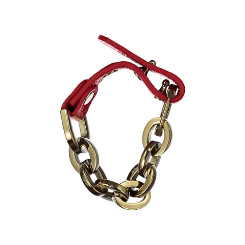 Sally Red Leather Bracelet