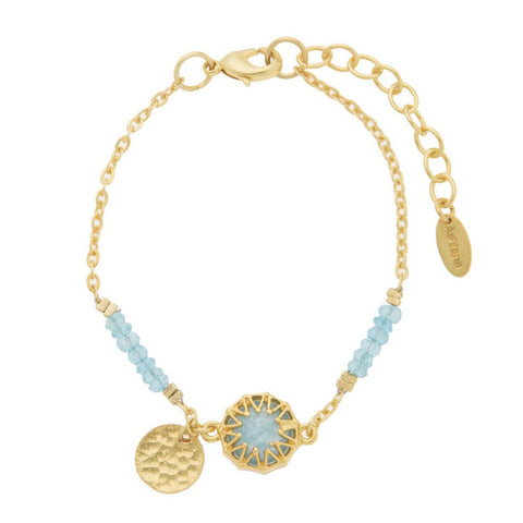 Ashiana Aqua and Gold Heidi Bracelet at LVBT