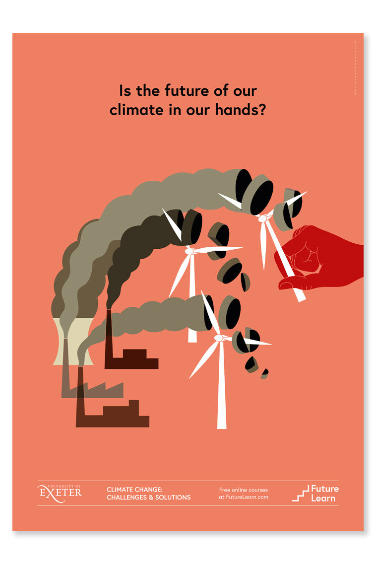 Is the future of our climate in our hands? - FutureLearn poster