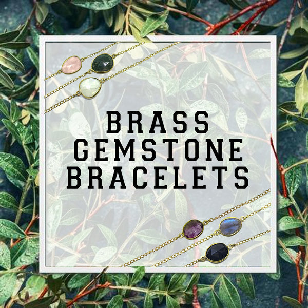 Collection: Brass Gemstone Bracelets