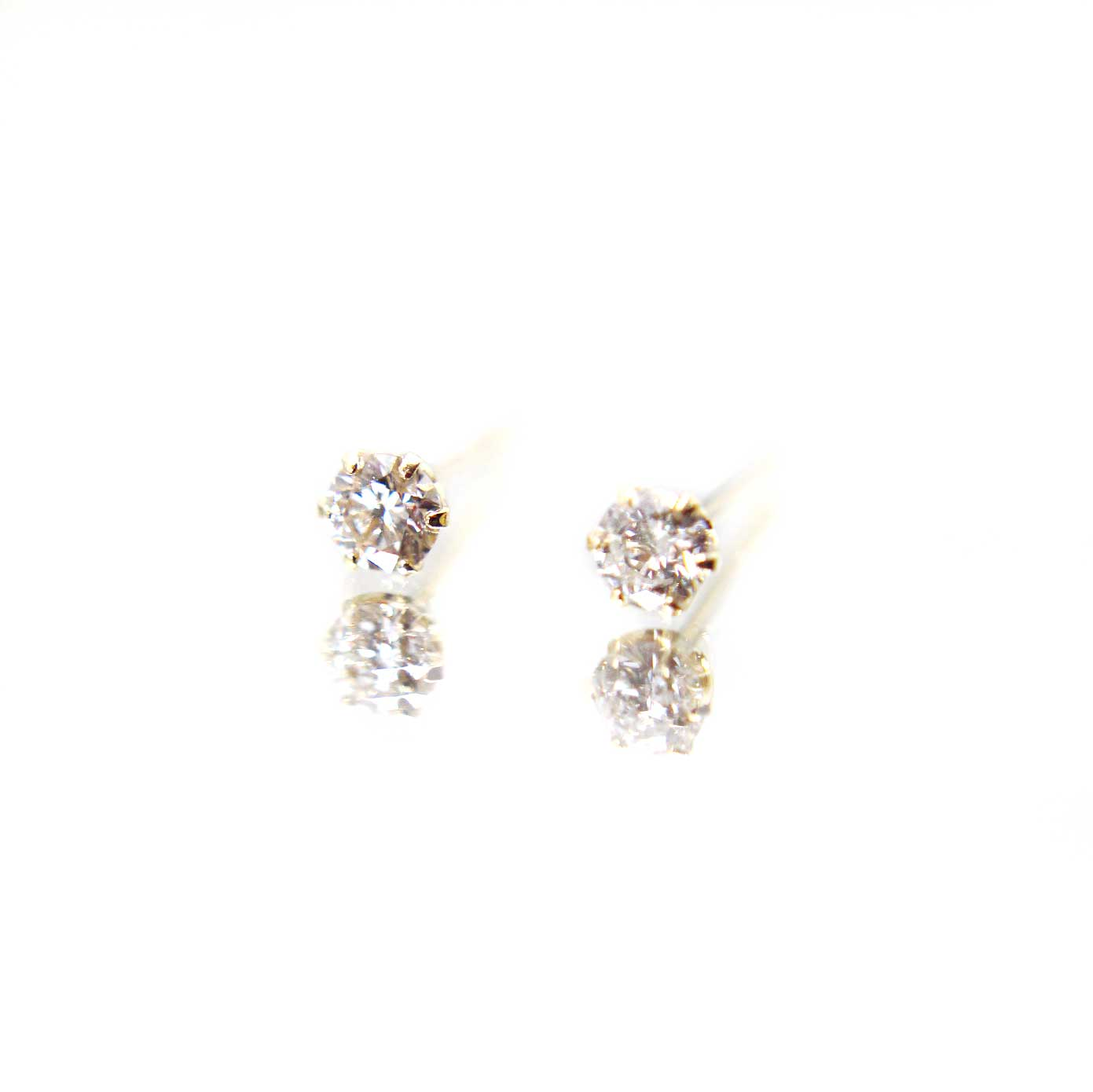 Diamond Series - Earrings - Amber Studs (0.2 Carats. Platinum & 18K Gold) - *PREORDER