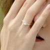 925 Silver Luxe Series Ring - Daisy (Rose Quartz) - Tessellate.Co