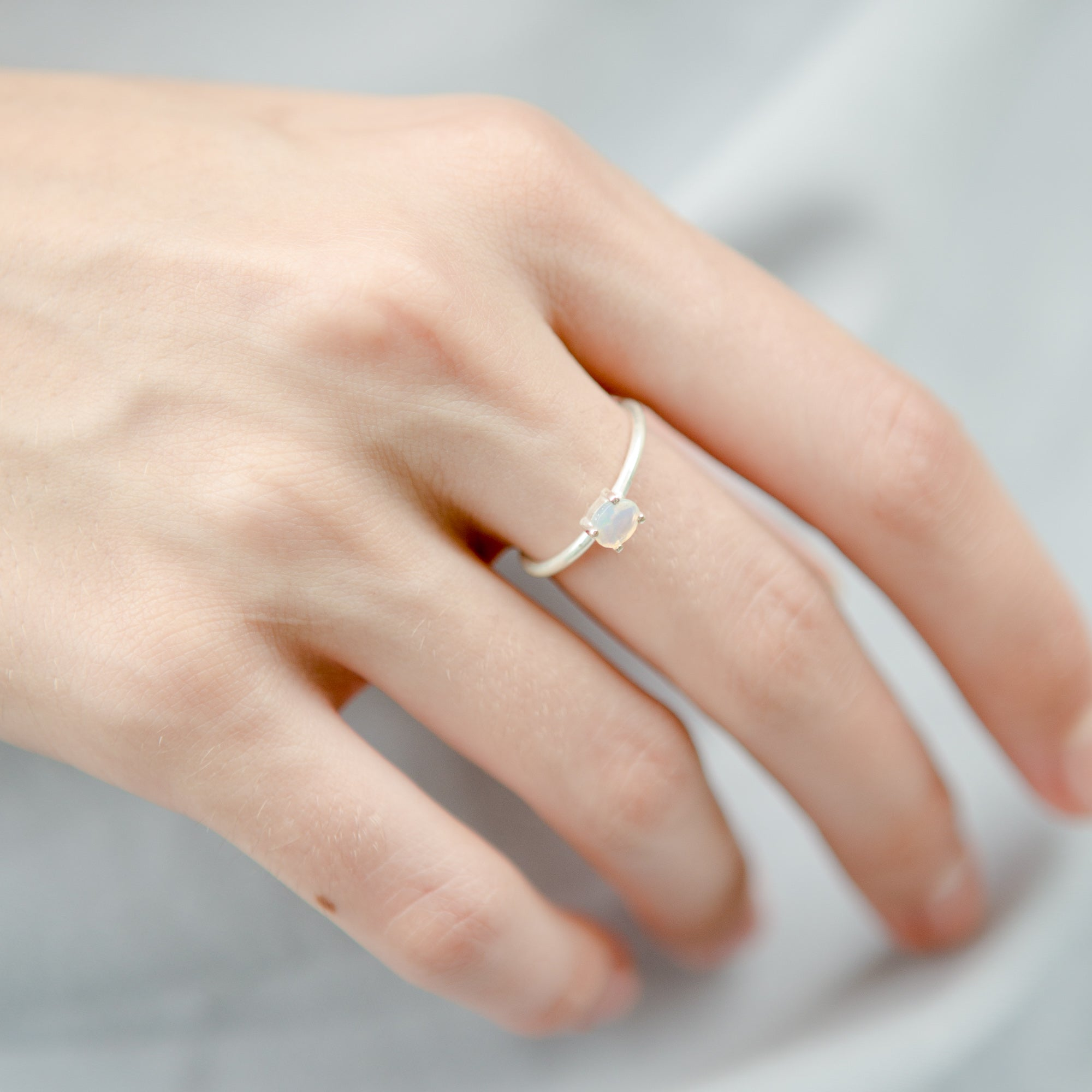 925 Silver Classic Series Ring - Alice (Opal)