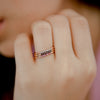 925 Silver Classic Series Ring - Esther (White zirconia) - Rose Gold Plated - Tessellate.Co