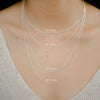 925 Silver Chain Series Necklace - Thin Chain (18 Inches) - Tessellate.Co