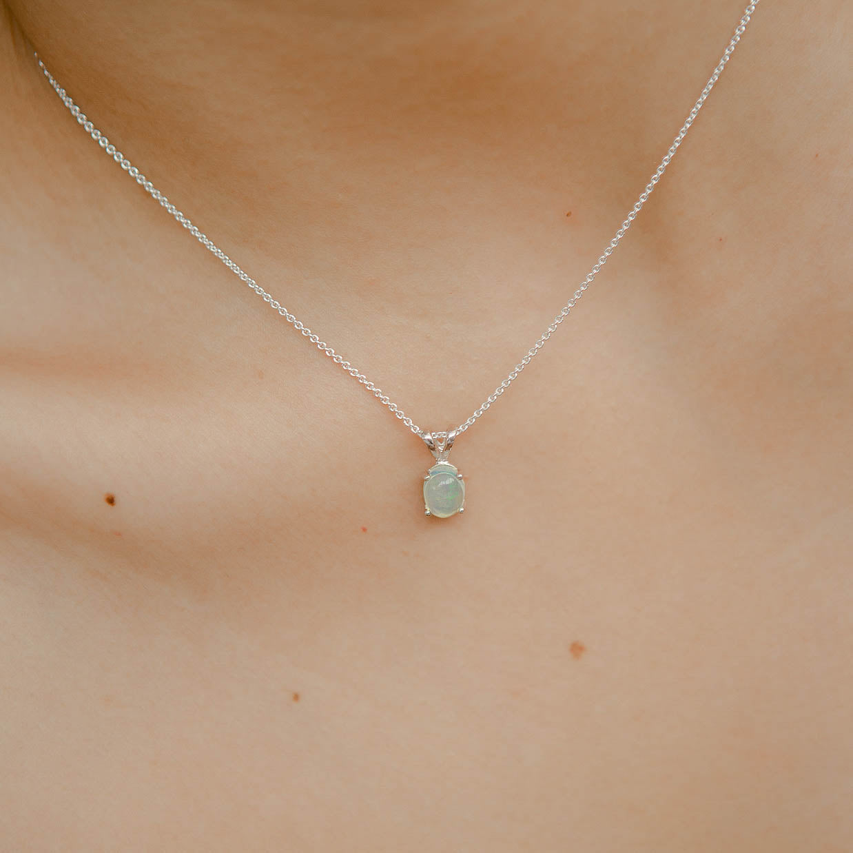 925 Silver Classic Series Pendant - Ophelia (Opal) - Tessellate.Co