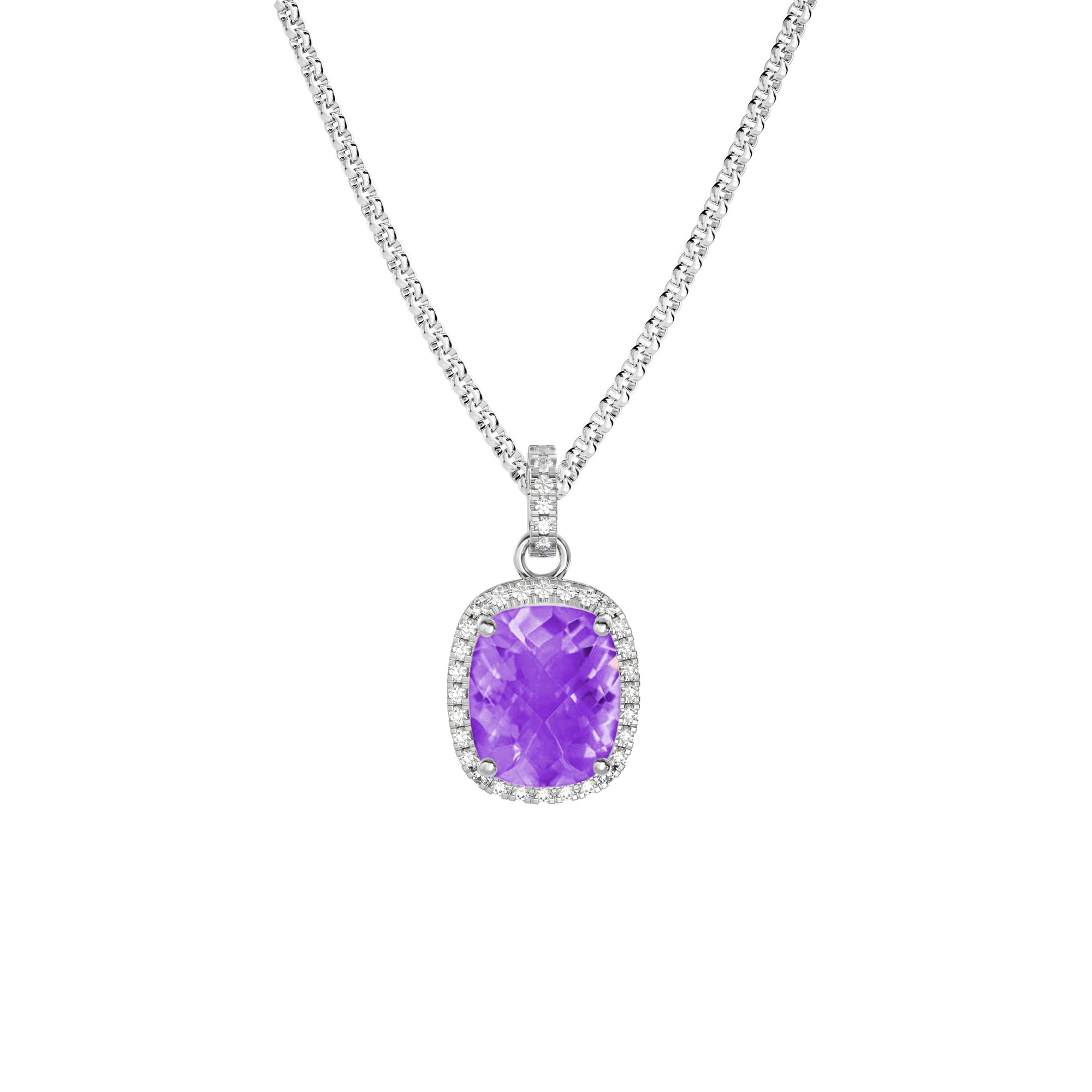 925 Silver Luxe Series Necklace - Laria (Amethyst)