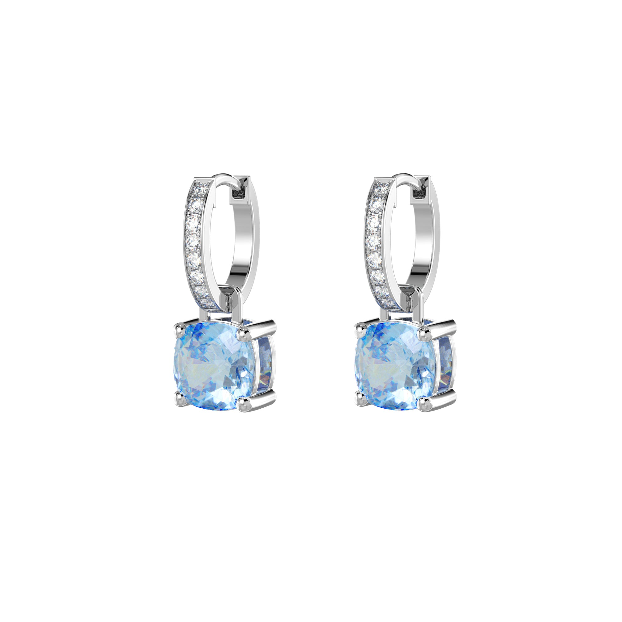 925 Silver Luxe Series Earrings Charms - Wylie (Topaz)