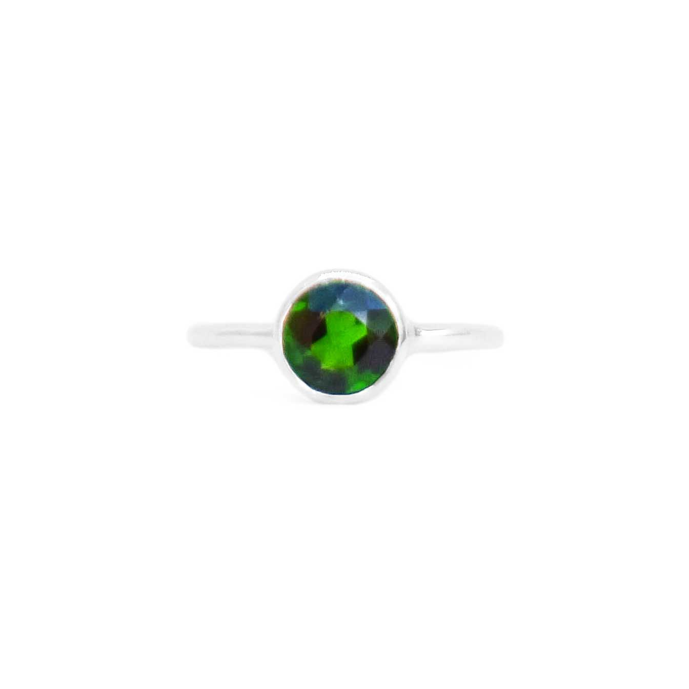 925 Silver Luxe Series Ring - Kaari (Chrome Diopside)