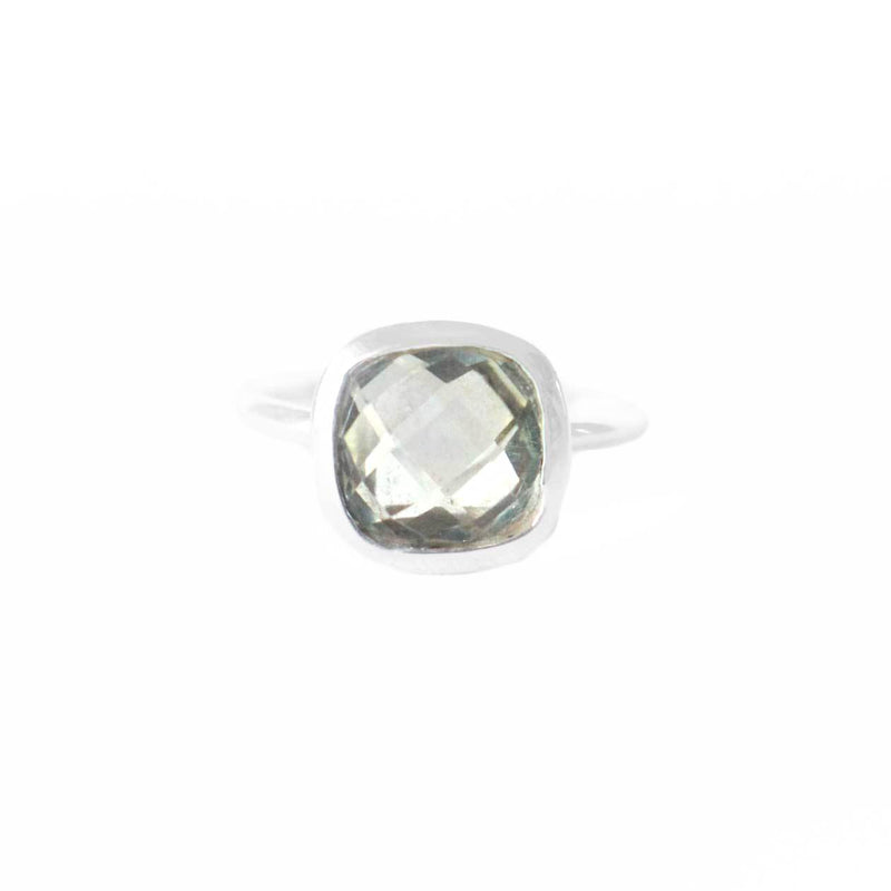 925 Silver Luxe Series Ring - Lisa (Green Amethyst)
