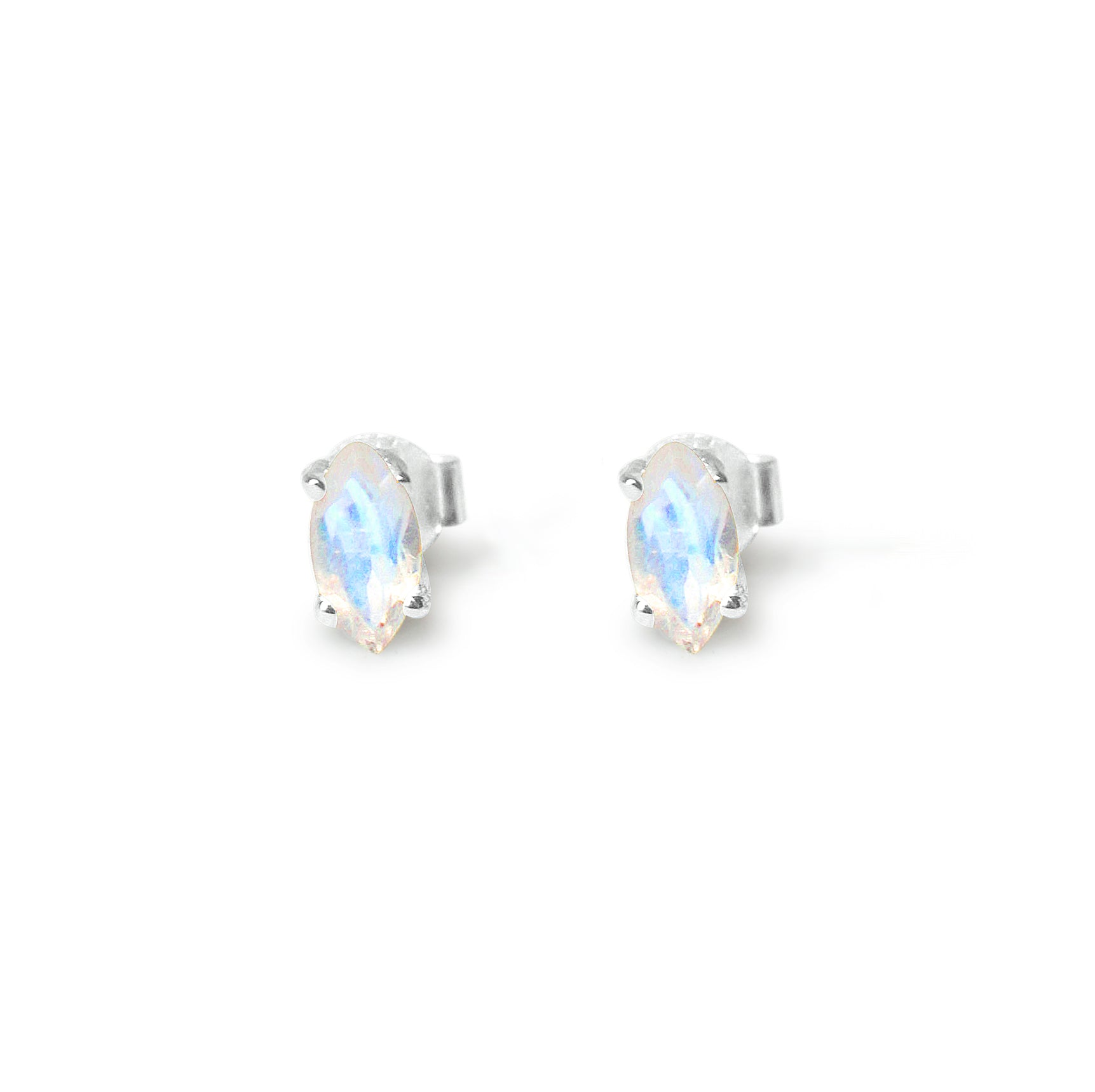 925 Silver Classic Series Earrings - Marquise 8x4mm (Moonstone)