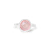 925 Silver Luxe Series Ring - Celine (Rose Quartz)
