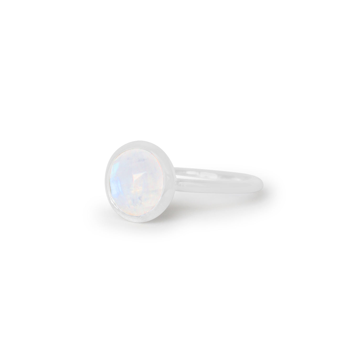 925 Silver Luxe Series Ring - Celine (Moonstone) - Tessellate.Co