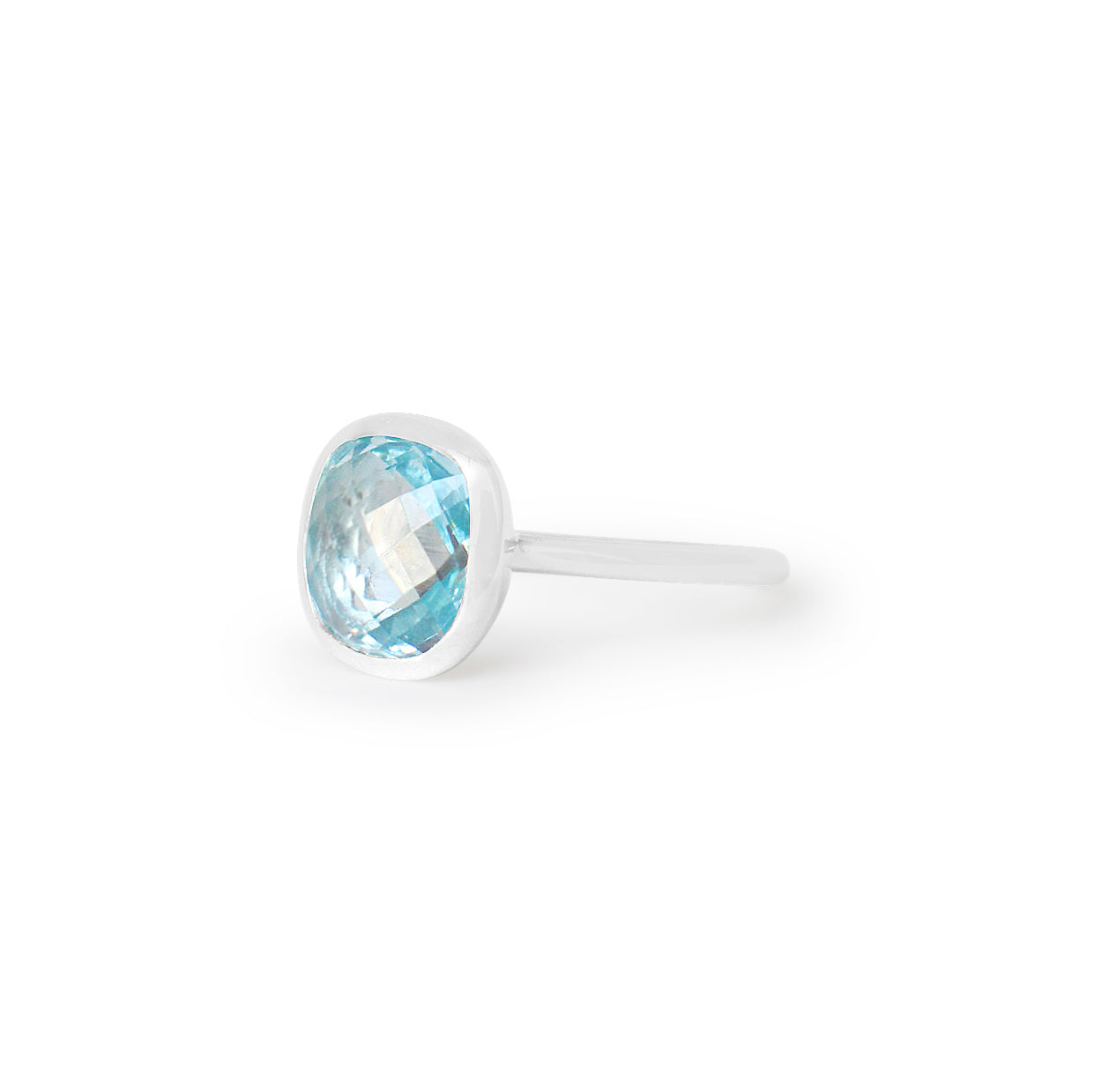 925 Silver Luxe Series Ring - Celeste (Blue Topaz) - Tessellate.Co