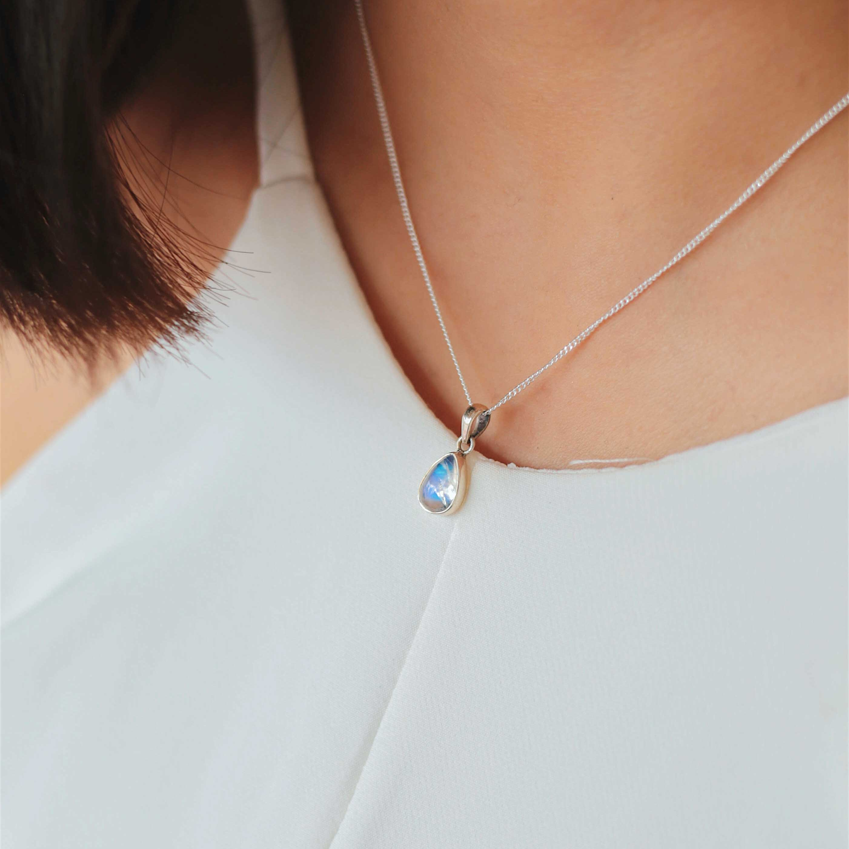 plated product popular necklace brand gold italina collier chain diamond pendant thin clavicle cz