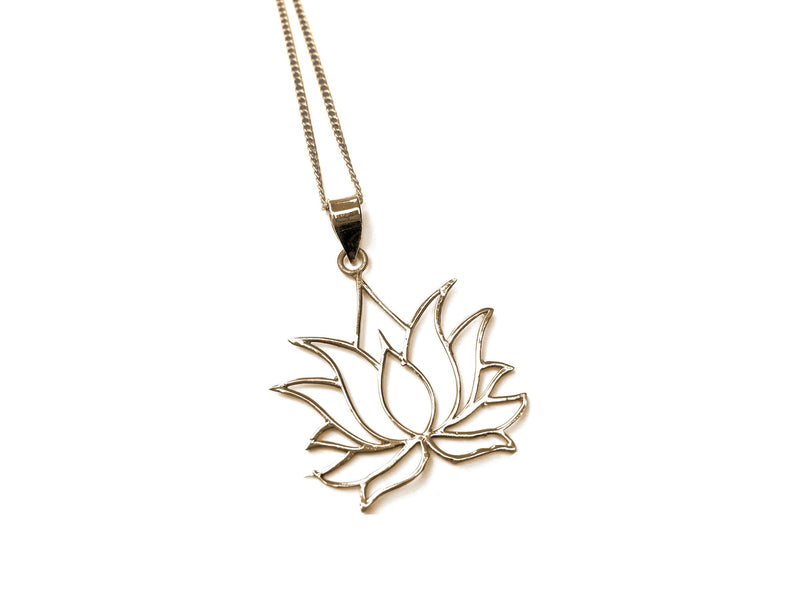 Brass -  Blooming Lotus Necklace - Tessellate.Co - 1