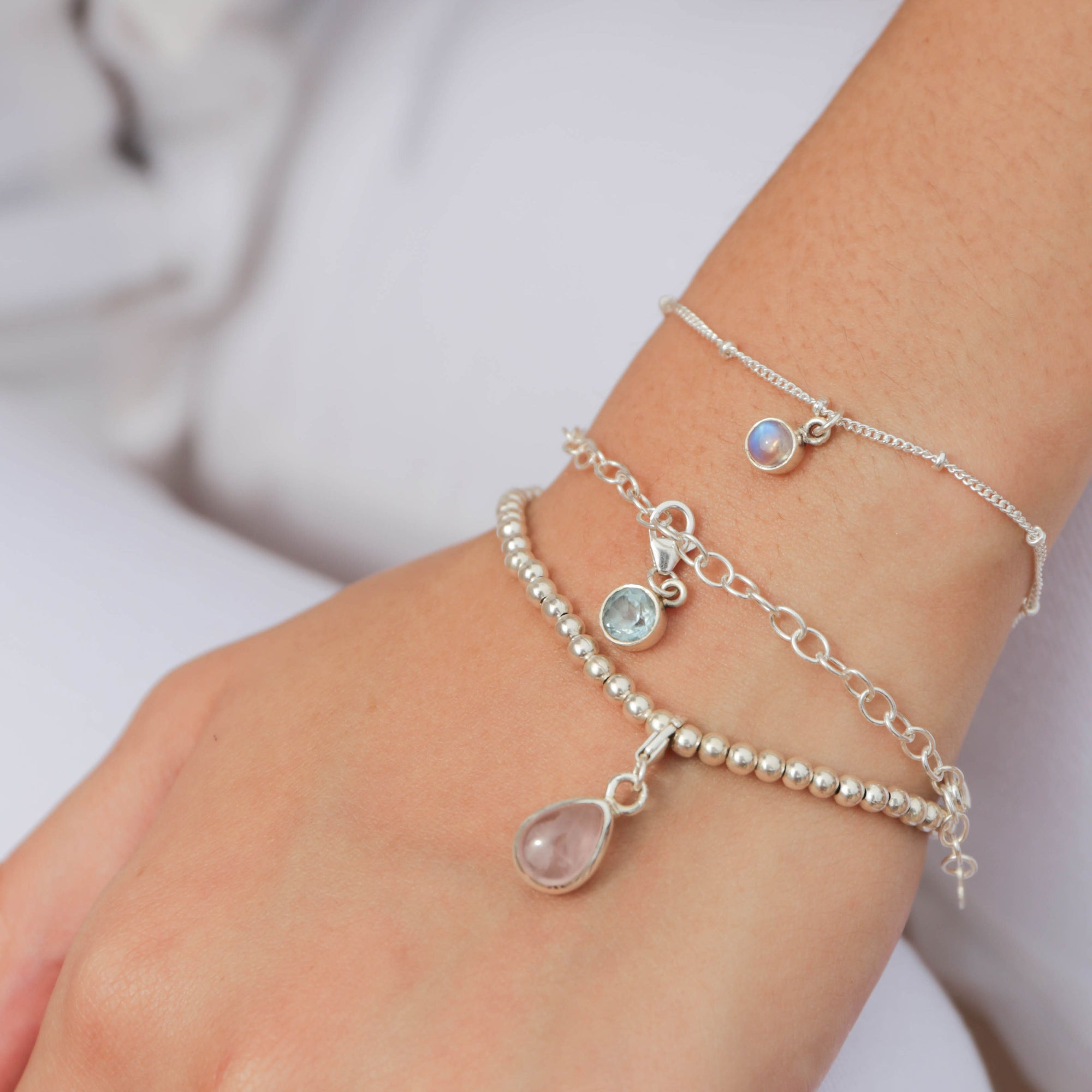 925 Silver Charm Series Bracelet - Beads - Tessellate.Co