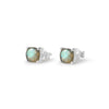 925 Silver Classic Series Earrings - Pamela Studs (Labradorite) - Rose Gold Plated - Tessellate.Co